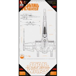 STAR WARS X-WING FIGHTER - GLASS POSTER