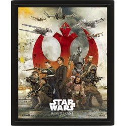 STAR WARS ROGUE ONE POSTER 3D LENTICULAR