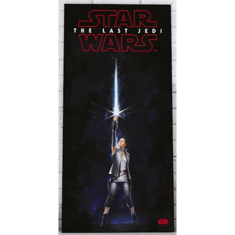 STAR WARS REY SABER - GLASS POSTER